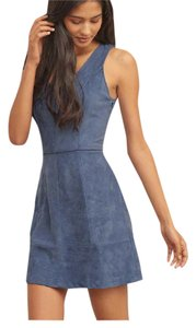 Abercrombie & Fitch short dress Blue A-line Faux Suede Boho V-neck Flirty on Tradesy