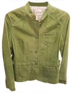 st.john's bay Light green Leather Jacket