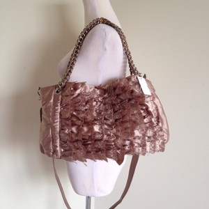 Rampage Ruffle Satin Chain Shoulder Bag