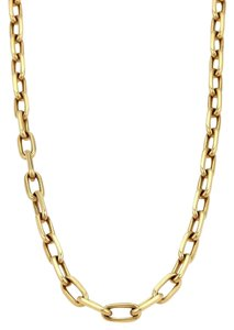 Cartier Cartier Spartacus 18k Yellow Gold Oval Chain Link Necklace 18