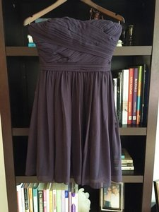 Bill Levkoff Eggplant Chiffon 82955 Traditional Bridesmaid/Mob Dress Size 4 (S)