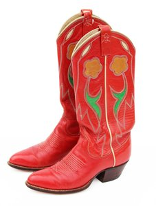 Ralph Lauren Western Cowboy Cowboy Boots Selene Rl50gifts Red Athletic