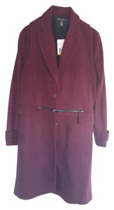 Kenneth Cole Red Cherry Burgundy Trench Coat