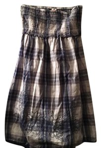 Mossimo Supply Co. short dress White, Blue Gingham Summer Farm Country Cowgirl on Tradesy