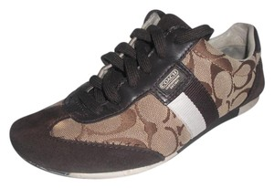 Coach Joss Monogram Logo Sneakers Brown Athletic