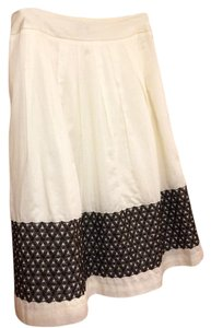 Ann Taylor Skirt cream/brown
