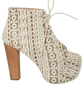 Jeffrey Campbell Crochet Litas Lace Spring Ivory Boots