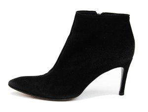 Saint Laurent Ysl Yves Ysl Suede Black Boots