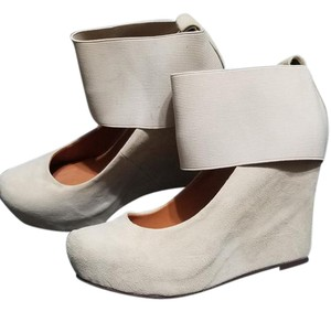Jeffrey Campbell Cream Wedges