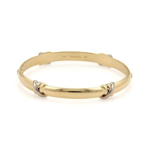 Cartier Cartier Trinity Crossover Style 18k Tri-Color Gold Dome Bangle Size-16