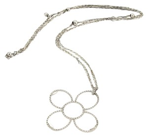 Roberto Coin 16915 - 1.24ct Diamonds 18k White Gold Flower Necklace