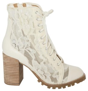 Report Signature Lace Ankle Lace Allon Ivory Boots