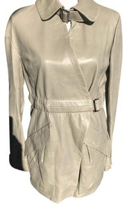 Nina Ricci Beige Leather Jacket