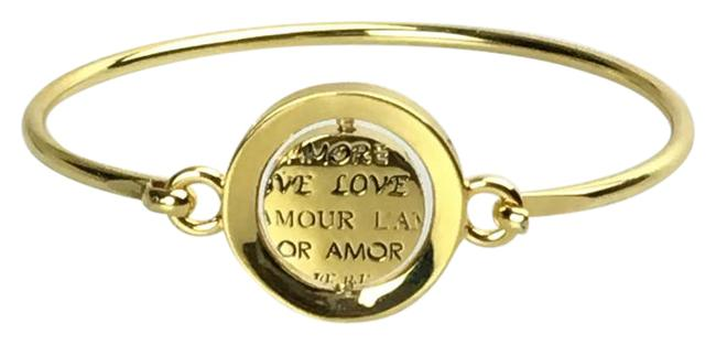 """Item - Gold And Black """"Word Play"""" Double Take Love Bangle Bracelet"""