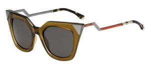 Fendi FENDI CAT EYE OLIVE RED CRYSTAL IRIDIA SUNGLASSES FF0060/S