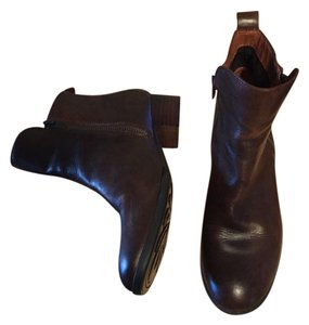 Børn Leather Double Zipper brown Boots