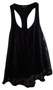 Forever 21 Lace Racer-back Top black