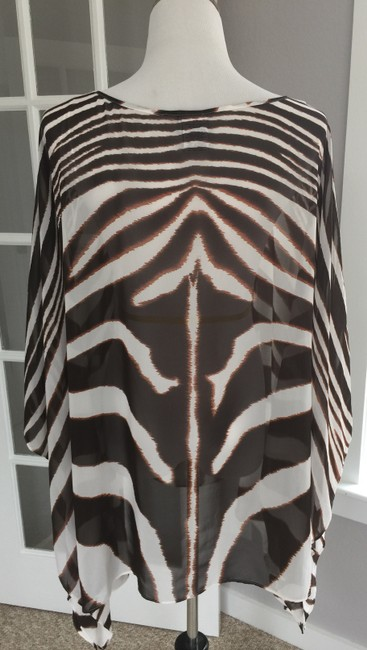 Jaclyn Smith Swim Cover Up Plus Size 3X Animal Print Blouse