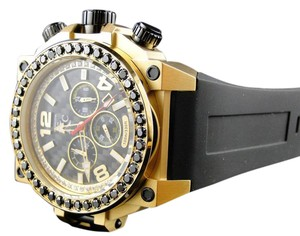 Techno Com by KC Techno Com KC Joe Rodeo Jojo Genuine WEG Gold Black Diamond Watch 4 Ct