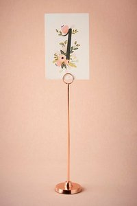 BHLDN Rose Gold Spindle Cardholder (14 Available) Ceremony Decoration