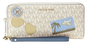Michael Kors Michael Kors Illustrated Fly Away Travel Continental Wallet