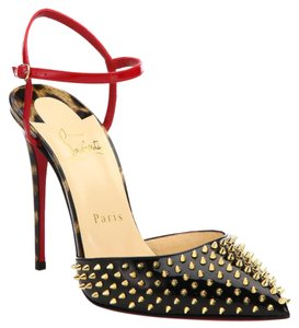Auth Christian Louboutin baila spike gold 37 new Pumps