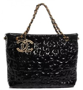 Chanel Cc Logo Grand Shopping Tote Blake Lively Gossip Girl Puzzle Piece Shoulder Bag