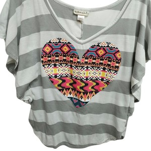 1a87799ee5d Belle du Jour Top Grey white striped
