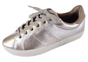 JOIE NIB $210 METALLIC SILVER LEATHER