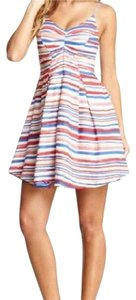 Jack by BB Dakota short dress red, white, blue & blush on Tradesy