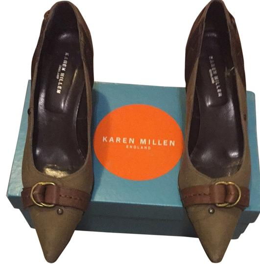 Preload https://img-static.tradesy.com/item/2091164/karen-millen-army-greenbrown-pumps-2091164-0-0-540-540.jpg