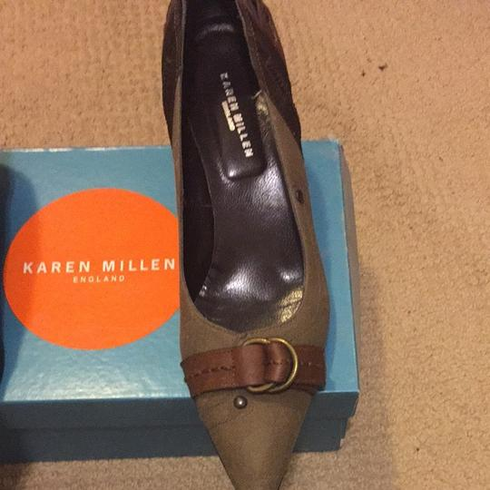 Karen Millen Army Green/brown Pumps Image 1