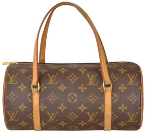 Louis Vuitton Monogram Papillon Barrel Barrell Papillon 26 Satchel in Brown