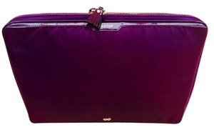 Anya Hindmarch Purple/ Aubergine Anya Hindmarch Laptop Case with pockets and pizzazz