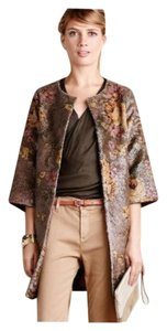 Eva Franco Anthropologie Vegan Leather Vintage Fashion Floral Print Jacket