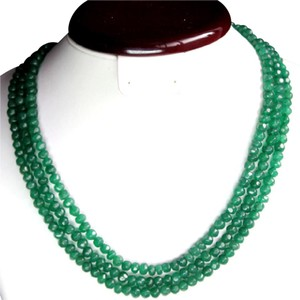 Brazilian Couture Elegant Natural Faceted 380 CARAT Brazilian Emerald Necklace