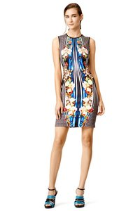 Clover Canyon Roses Print Fashion Geometric Striped Dress