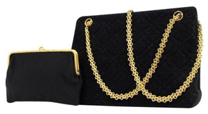 Chanel Terry Cloth Towel Quilted Mademoiselle Madamoiselle Shoulder Bag