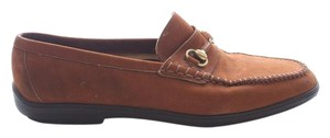 Cline Leather Horsebit Loafers Brown Flats