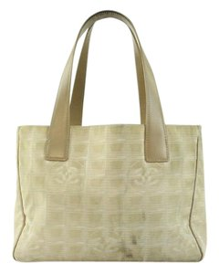 Chanel Gst Flap Canvas Limited Edition Tote in Taupe