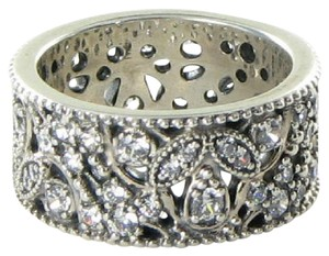 PANDORA 190965CZ Ring Sz 5.25 50 Shimmering Leaves Clear Cubic Zirconia 925
