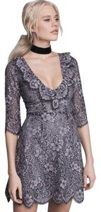 For Love & Lemons Lace Vintage V Neck Sexy Dress