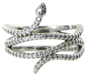 PANDORA 190954CZ Ring Sz 6.75 54 Swirling Snake Cubic Zirconia Sterling Silver
