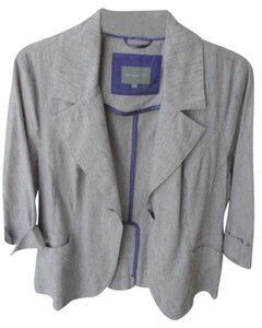 Marks & Spencer & Per Una Linen/cotton Unlined Cream Mauve Mix - see pics Jacket