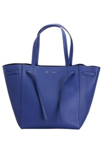 Céline Leather Phantom Cabas Tote in Indigo