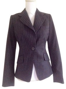 L.K. Bennett Wool New Fully Lined Charcoal Pinstripe Blazer
