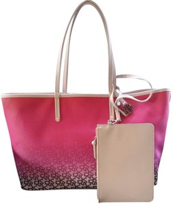 DKNY Reversible Neverfull Louis Vuitton Tote in Pink & Beige