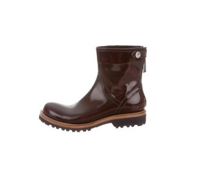 Brunello Cucinelli Ankle Round-toe Womans Ankle Burgundy Boots