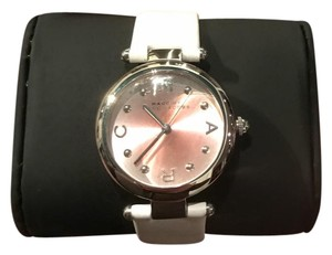 Marc Jacobs New Marc Jacobs DOTTY MJ1407 Pink Hue Face White Leather Band Ladies Watch