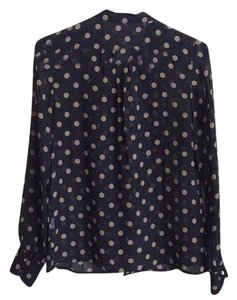 J.Crew Top Navy blue and tan